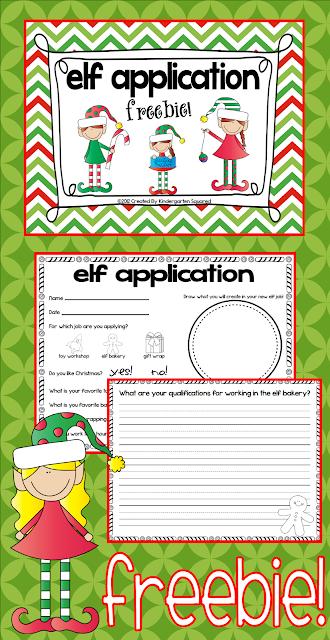 Kindergarten Squared: Freebie Elf Applications!