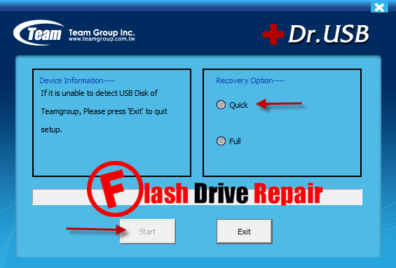 how to repair a corrupted usb flash drive