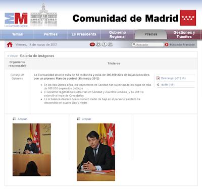 Vicepresidente I. González presentando los resultados del plan de IT