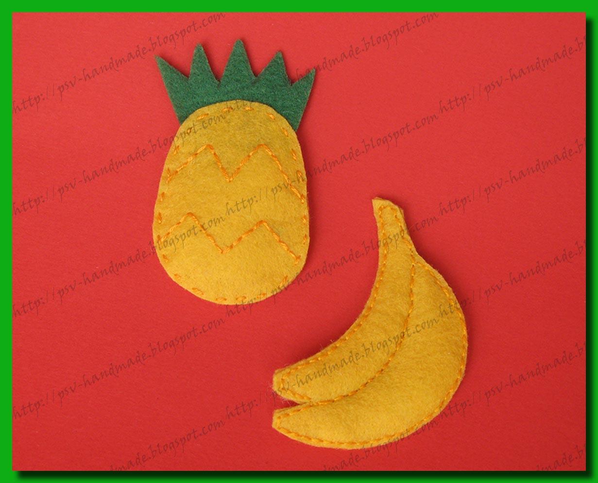 Развивающие игрушки - ананас и банан