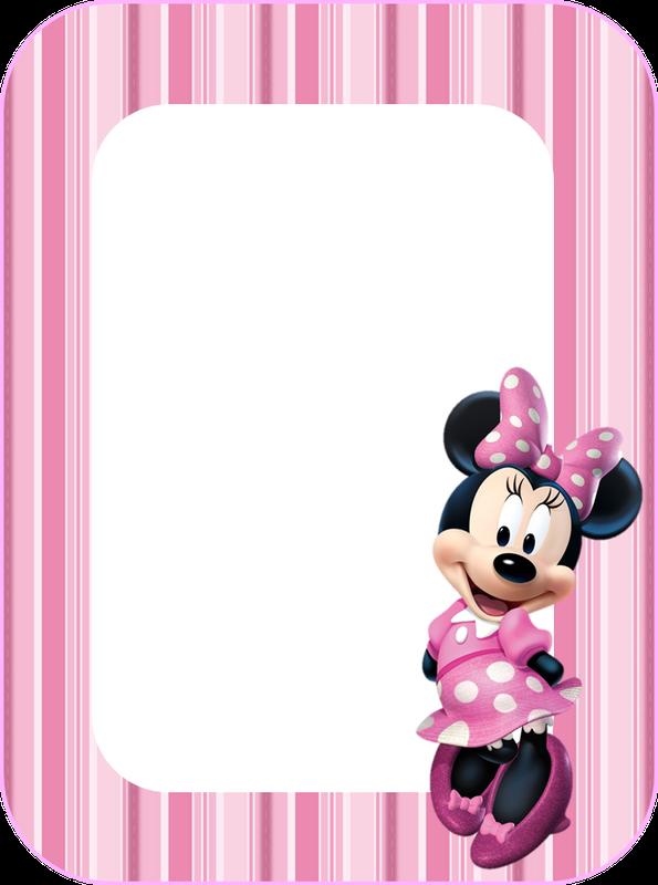 Kit Minnie con rayas rosas, para Imprimir Gratis. | Ideas y ...