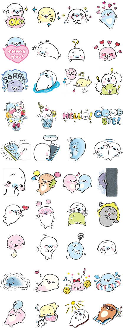 Mamegoma's Silly Sticker Set