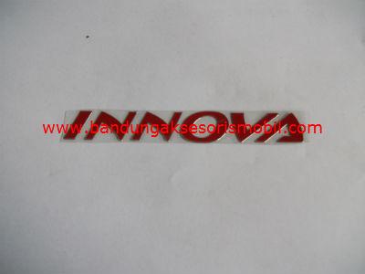 Emblem Alumunium Red Innova