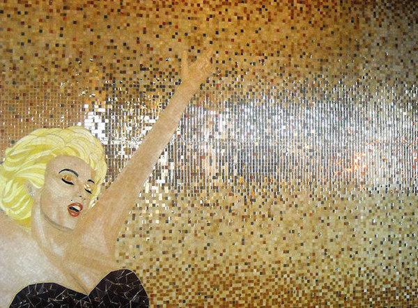 Mosaic tile Marilyn Monroe