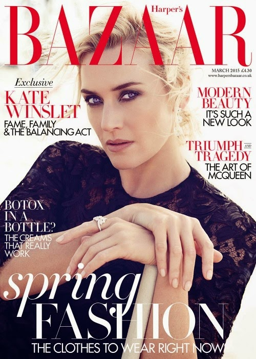 Actress, singer: Kate Winslet for Harper's Bazaar UK