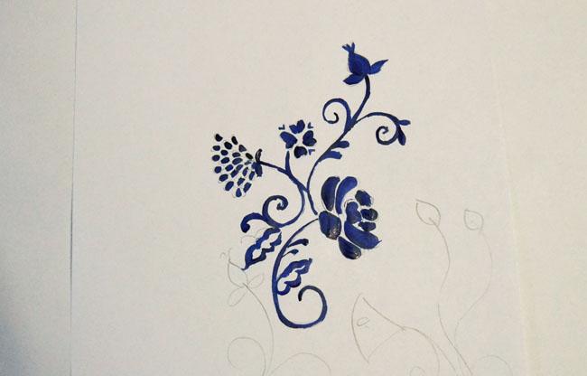 A Matter Of Style DIY Fashion China Blue Painted