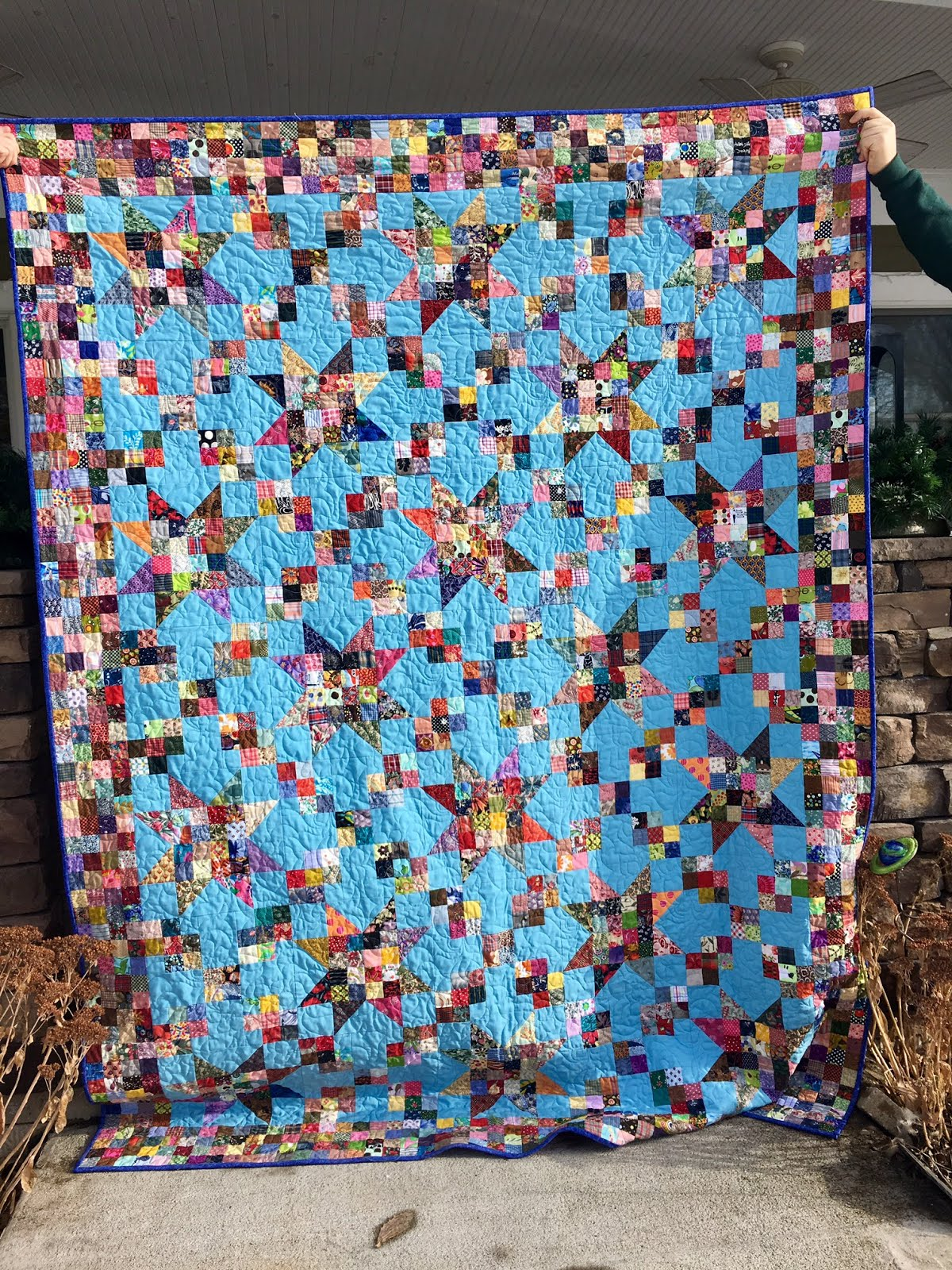 klein meisje quilts: calico rose, quilt completed