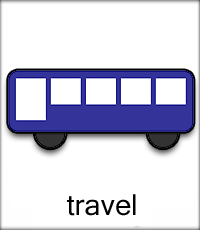 Travel: A picture of a bus.