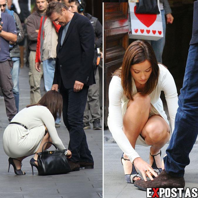"""Olivia Wilde filmando """"Third person"""" em Roma com Liam Neeson - 17 de Outubro de 2012"""