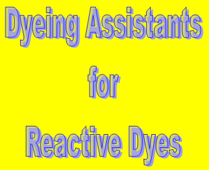 Assistants for Dyeing with Reactive Dyes