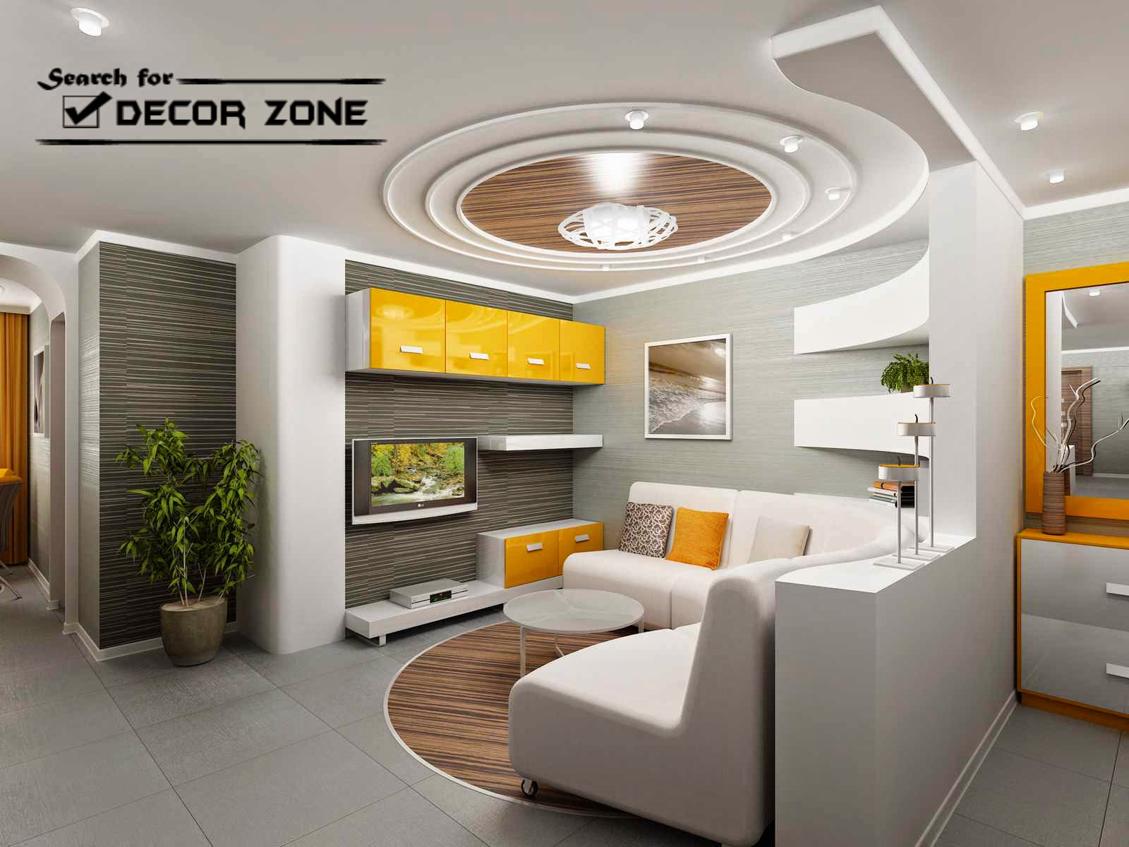 False Ceiling Designs For Living Room Room Modern White Gray False Ceiling  Design In Living Room