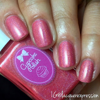 swatch of a budding romance nail polish by cupcake polish