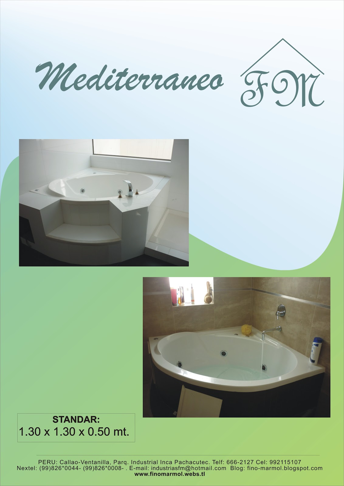 Medidas Para Un Baño Con Tina:Tinas de baño FM: Tina de baño Mediterraneo Fino Marmol