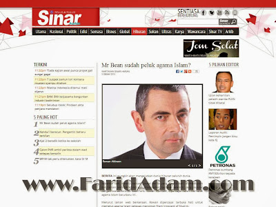 mr. bean masuk islam, mr. bean converted to islam