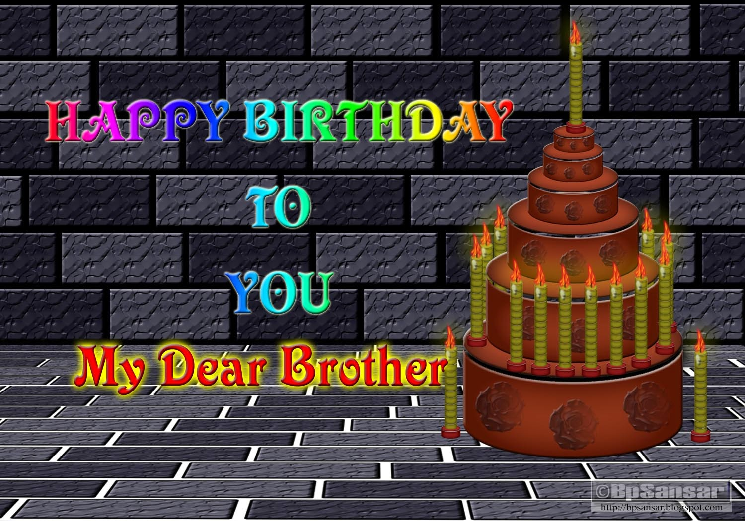Some Birthday Greeting cards for Friends Brother and Sister by – Birthday Card for My Brother