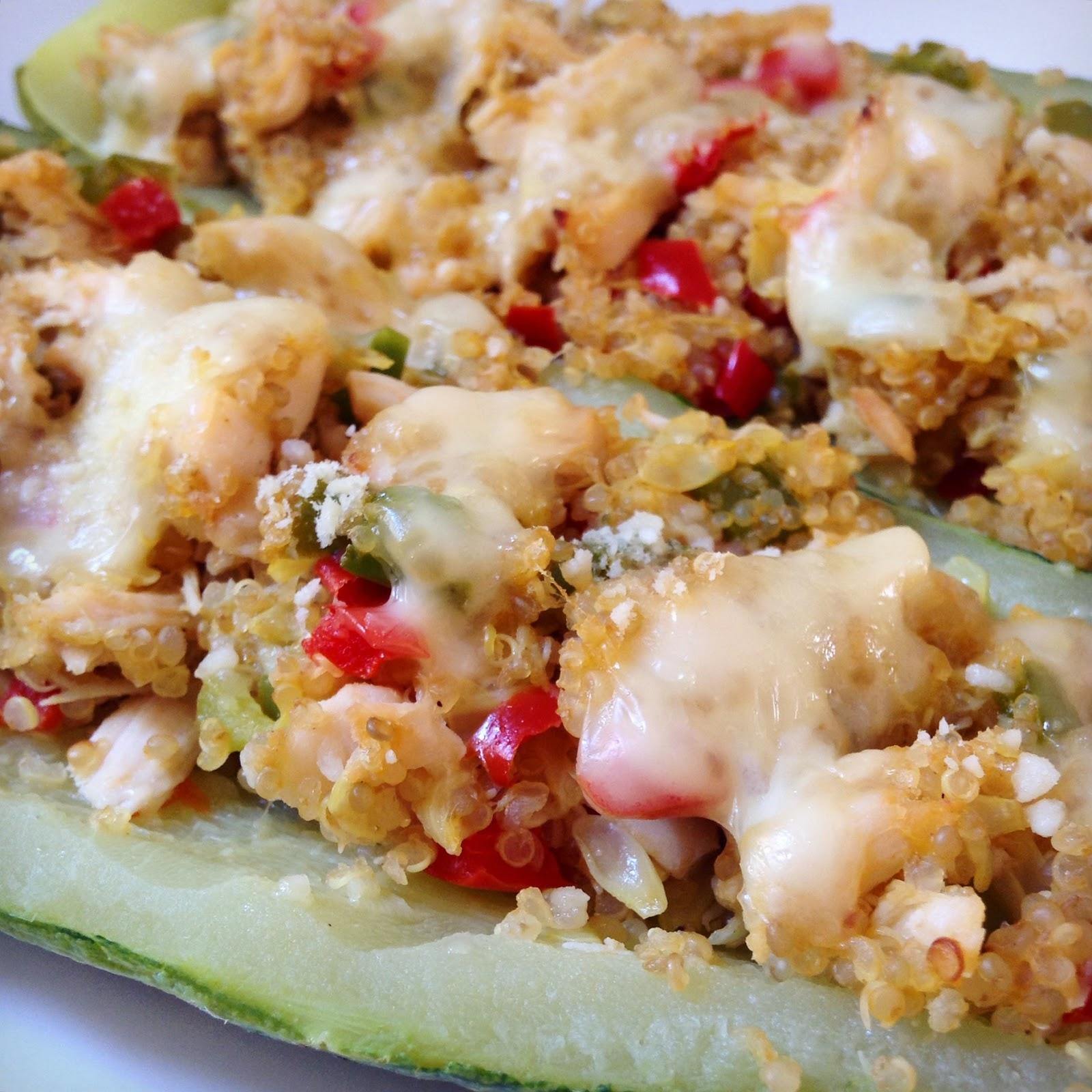 Proyecto cocina zapallito italiano relleno con quinoa y pollo for Cocinar quinoa con pollo