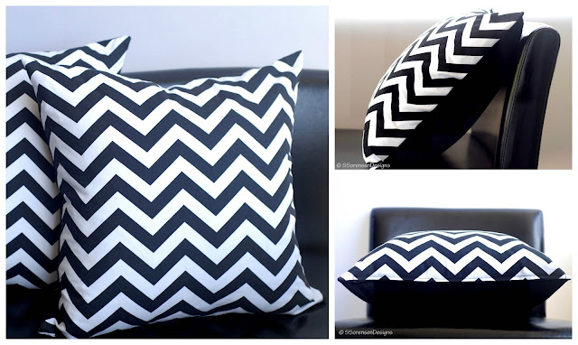 What is cotton duck fabric? Chevron throw pillows made from canvas