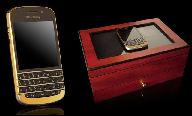 BlackBerry Q10 en oro