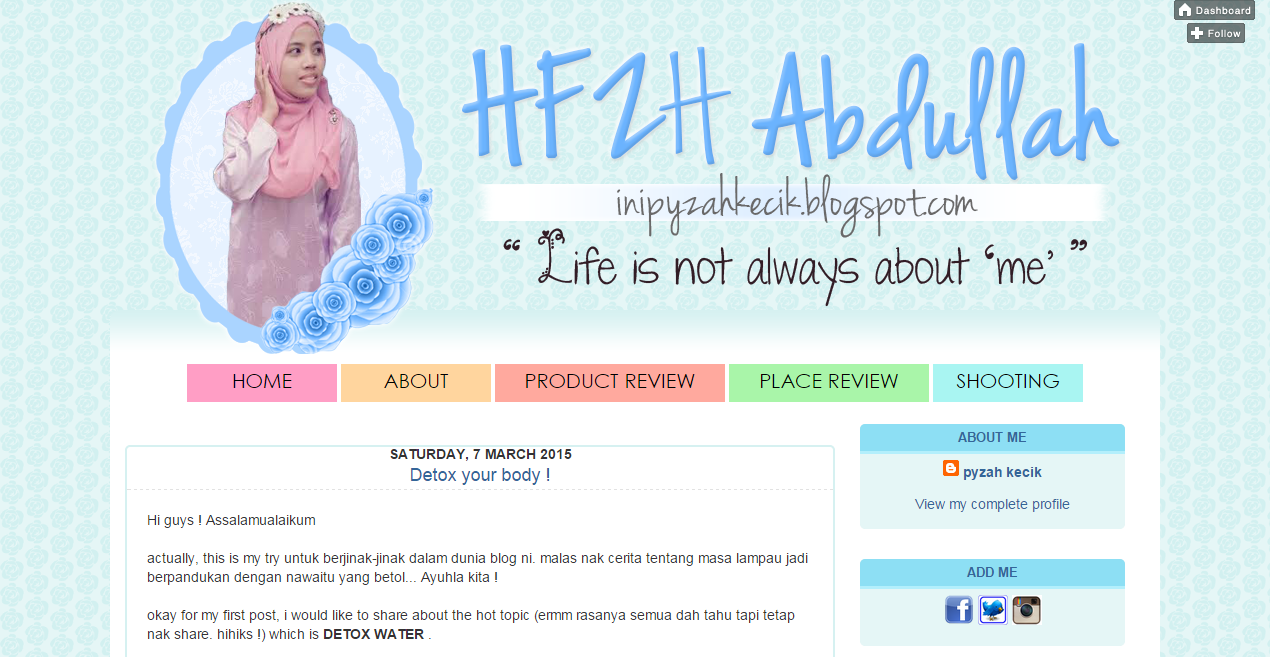 Portfolio, tempahan edit/design/customize blog, tempahan edit blog murah, Tempahan Design Header Blog murah, Blog Bingkisan Hati