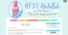 Tempahan Design Blog HFZH Abdullah