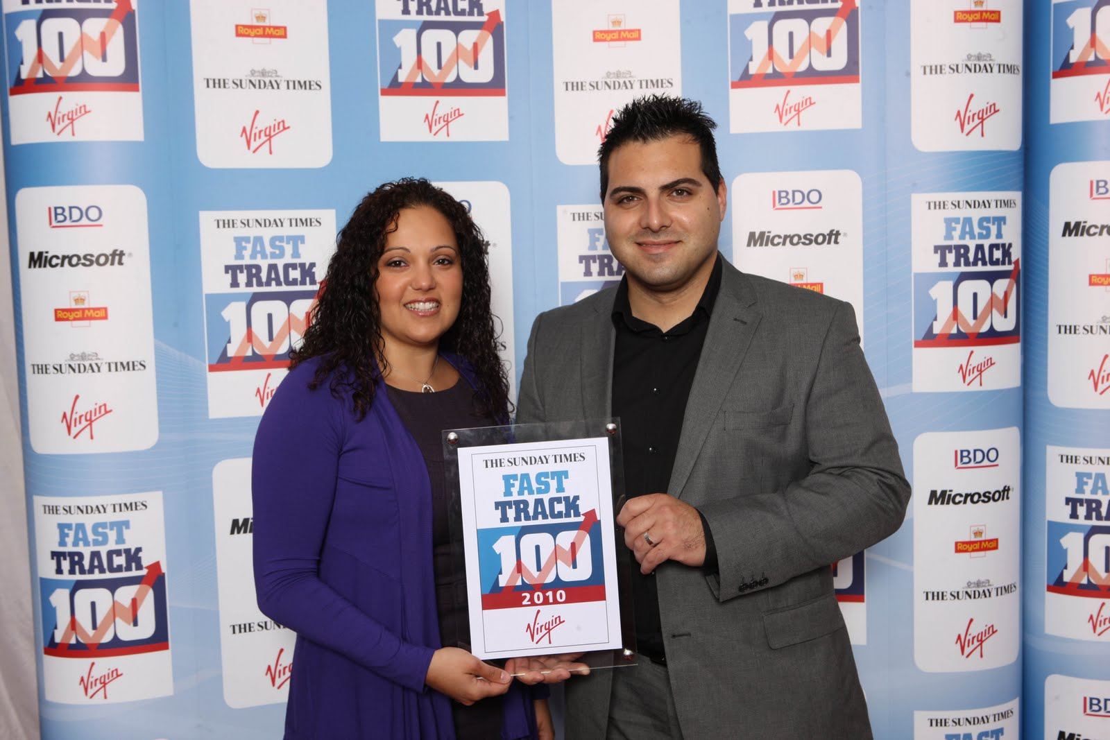 Sunday Times Virgin Fast Track 100 Award