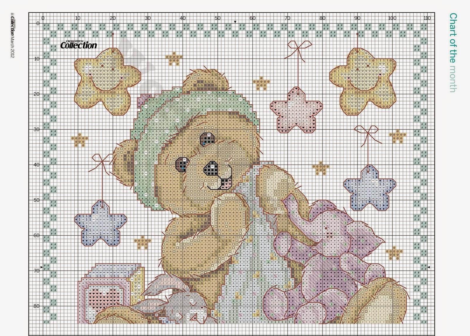 ... ricamo, maglia, uncinetto e cucito: annuncio di nascita a punto croce