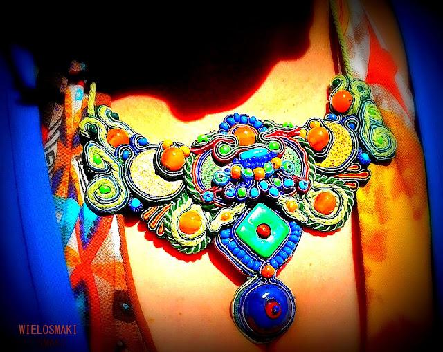 Sutasz Agama / Soutache Jewellery, Wielosmaki Iza Rajter