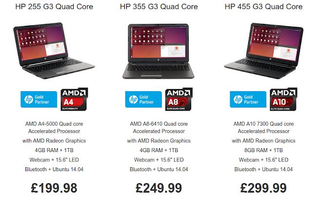 HP ubuntu laptops