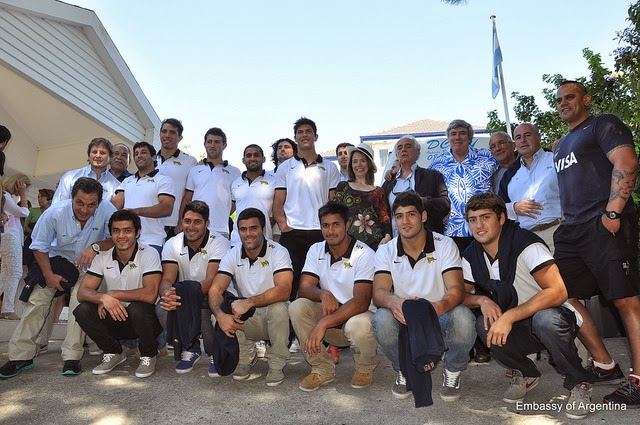 Los Pumas 7´s visitaron la embajada argentina en Nueva Zelanda