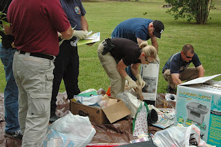 Teams learn how to investigate illegal dump sites.