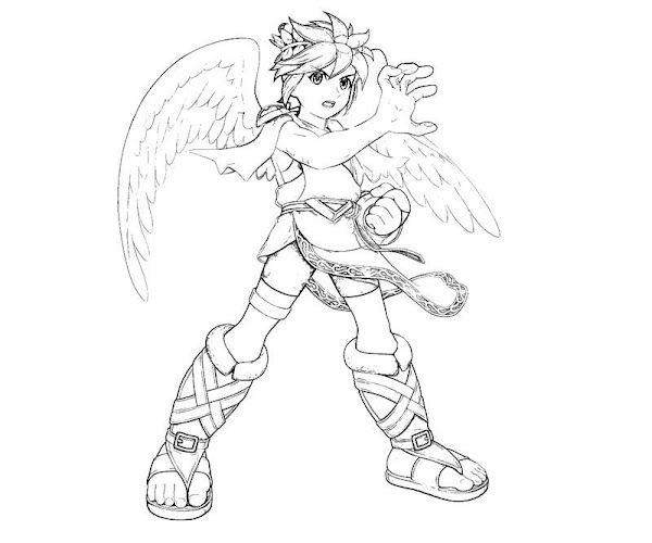 Pit Kid Icarus Coloring Page