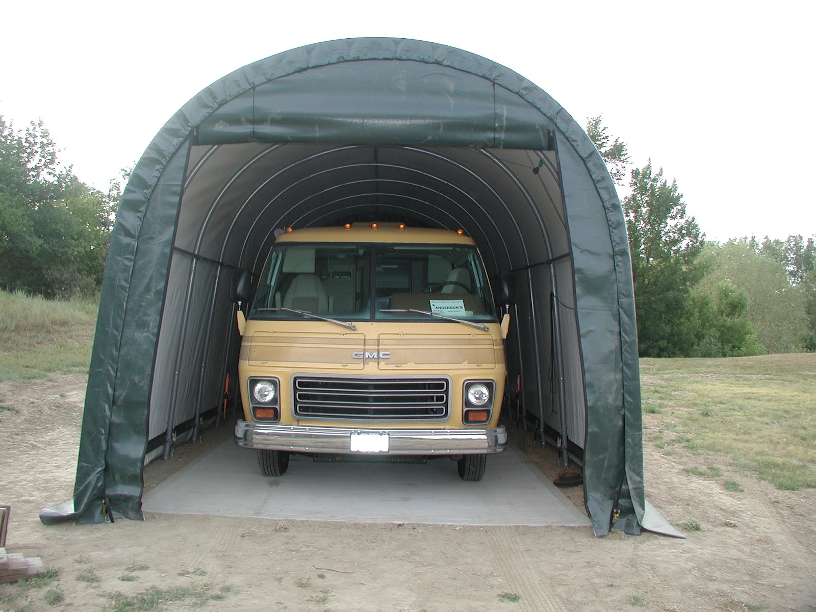 Rv Tarp Shelter : Wally sue shelterlogic rv shelter
