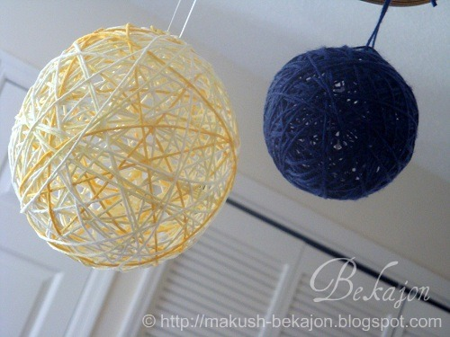 Kids and myself have had so much fun to make yarn balls during the school vacation.
