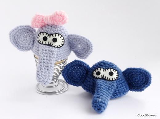 elephant amigurumi by cocoflower