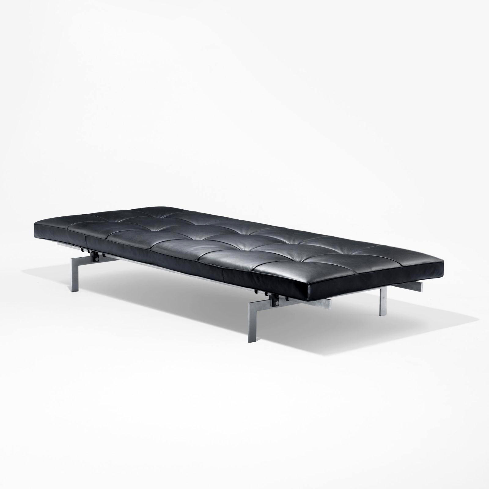 "Charming Leather Benches Modern Part - 13: Fritz Hansen Poul Kjaerholm PK80â""¢ Bench In Classic Black Leather By  Stardust Modern Designâ""¢"