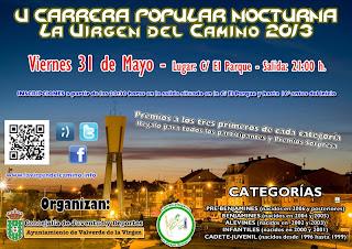carrera pipular nocturna La Virgen del Camino www.mediamaratonleon.com