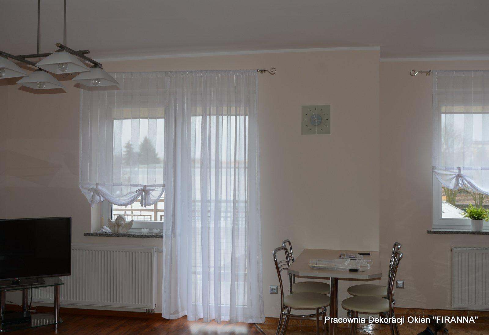 Pracownia Dekoracji Okien Firanna Salon Z Aneksem Kuchennym