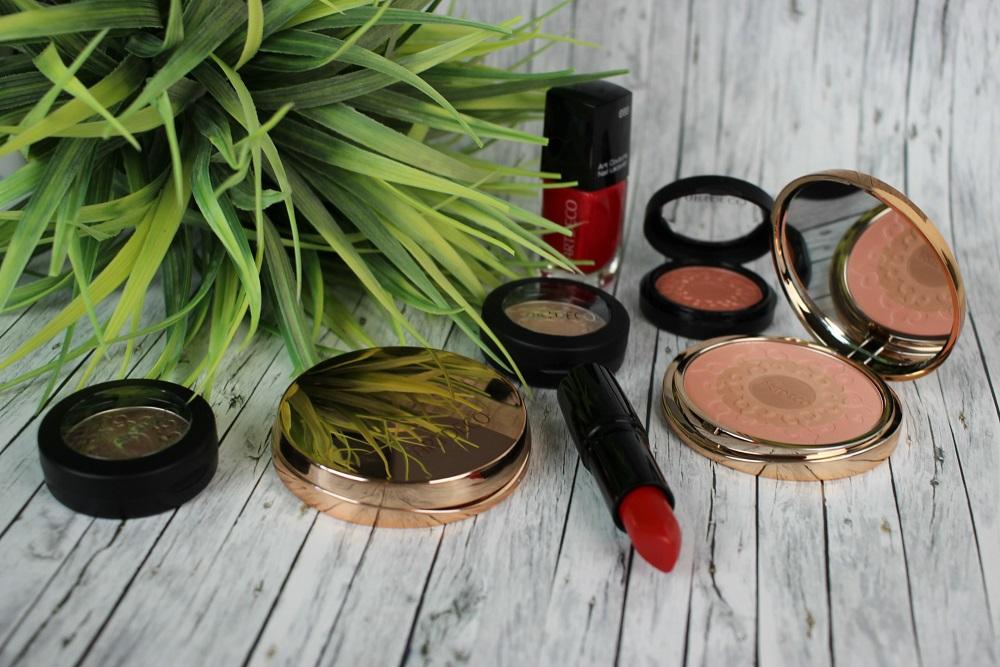 artdeco, blush, bronzer, fresh look, glowy skin, here comes the sun, highlighter, kosmetik. look, lidschatten, makeup, nude, red lips, review, strahlender teint, summer, sunshine, swatches, thatsme
