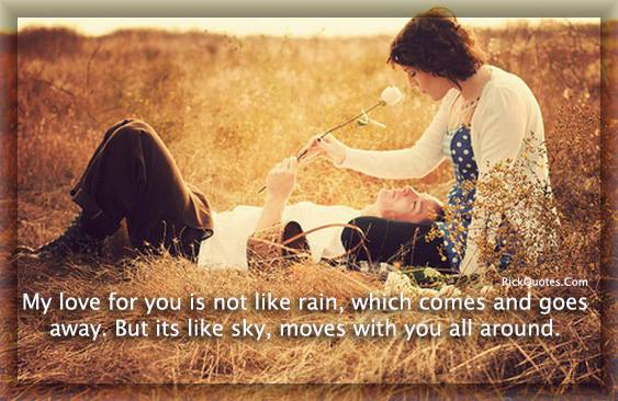 Love quotes couple grass romantic My love for you
