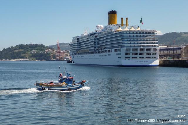 costa luminosa, costa cruceros, puerto de vigo