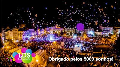 Largada de Balões luminosos na Noite Branca de Braga
