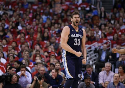 Marc Gasol yelling