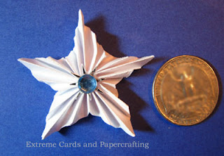 pleated star size compared to quarter coin