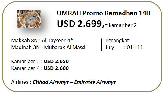 Umroh Ramadhan Promo 14 Hari Bintang 4