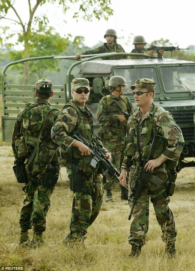 Photo of troops accompanying Daily Mail story on Colombian  abuse report.