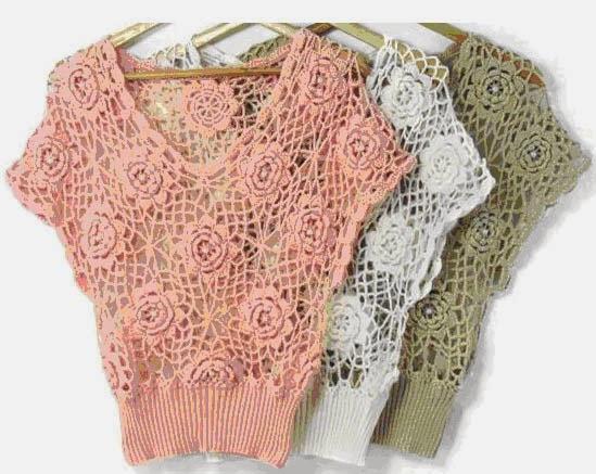 Creaciones VM: Blusa tejida a crochet con patrón