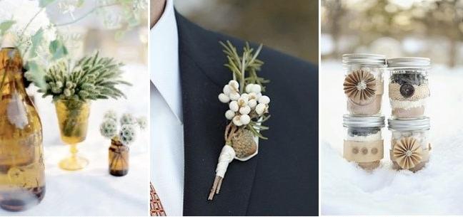 Бутониера на младоженец