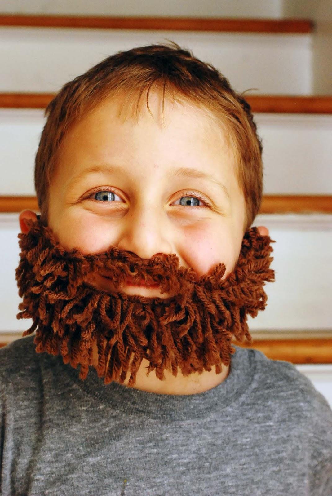 q made diy yarn beard
