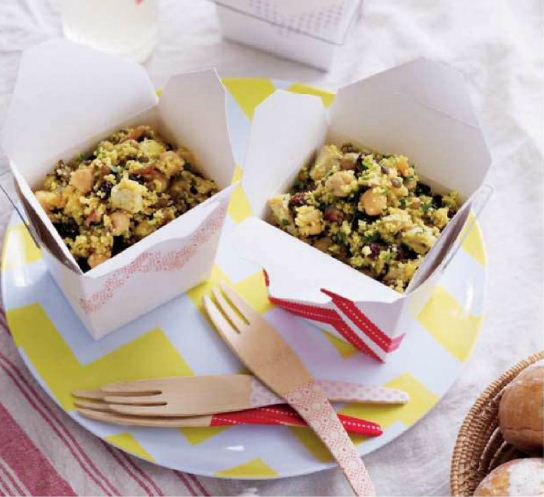Puy Lentil, Couscous and Chicken Salad