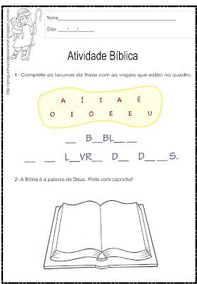 Dia da Bíblia - Atividade